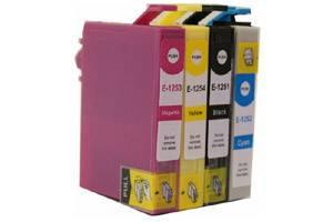 Epson T125 Black & 3-Color Combo Remanufactured Ink Cartridges
