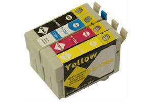 Epson T126 Black & 3-Color Combo Remanufactured Ink Cartridges