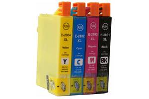 Epson T200XL High Yield Black & 3-Color Combo Remanufactured Ink Cartridges