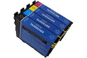 Epson T202XL Black & 3-Color Compatible Ink Cartridge Set for WF-2860