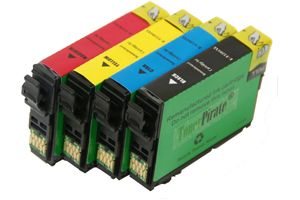 Epson T220XL High Yield Black & 3-Color Compatible Ink Cartridge Set