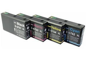 Epson T676XL120 676 Black & Color Compatible Ink Cartridges 4 Pk Combo