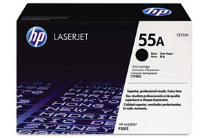 HP CE255A / 55A [OEM] Genuine Toner Cartridge for LaserJet P3010 P3015
