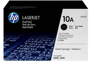 HP Q2610A / 10A 2-Pack [OEM] Genuine Toner Cartridge for LaserJet 2300