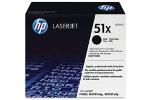 HP Q7551X / 51X [OEM] Genuine Toner Cartridge for LaserJet M3027 M3035