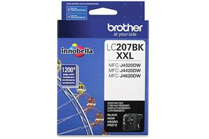Brother LC207BK Black OEM Genuine Ink Cartridge for MFC-J4320DW