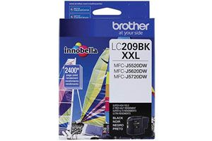 Brother LC209BK Black OEM Genuine Ink Cartridge for MFC-J5520DW