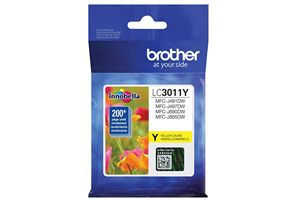 Brother LC3011Y Yellow OEM Genuine Ink Cartridge For MFC-J491DW
