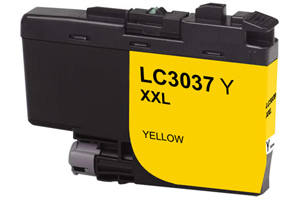 Brother LC3037Y Yellow Compatible High Yield Ink Cartridge
