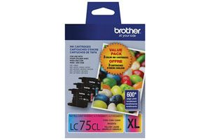 Brother LC752PKS Tri Color OEM Genuine Ink Cartridge for MFC-J280W