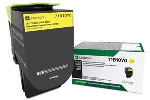 Lexmark 71B10Y0 Yellow [OEM] Genuine Toner Cartridge CS317dn CX417de