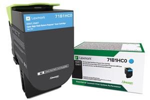 Lexmark 71B1HC0 Cyan [OEM] Genuine High Yield Toner Cartridge CS417dn