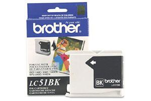 Brother LC51BK OEM Genuine Black Ink Cartridge for MFC-240 3360 440 5460 5860 665