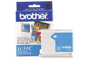 Brother LC51C OEM Genuine Cyan Ink Cartridge for MFC-240 3360 440 5460 5860 665