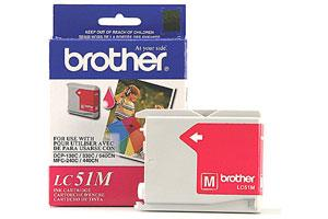 Brother LC51M OEM Genuine Magenta Ink Cartridge for MFC-240 3360 440 5460 5860 665
