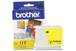 Brother LC51Y OEM Genuine Yellow Ink Cartridge for MFC-240 3360 440 5460 5860 665