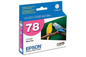 Epson T078320 #78 Magenta OEM Genuine Ink Cartridge for Stylus Photo R260 R280 RX680