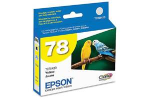 Epson T078420 #78 Yellow OEM Genuine Ink Cartridge for Stylus Photo R260 R280 RX680