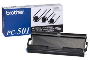 Brother PC-501 [OEM] Genuine Black Thermal Fax Ribbon Cartridge for Fax 575 Printer