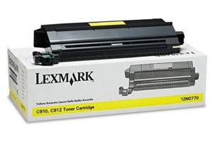 Lexmark 12N0770 Yellow [OEM] Genuine Toner Cartridge for C910 C912 Color Laser Printer