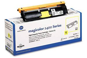 Minolta 1710587-005 Yellow [OEM] Genuine Toner for QMS MagiColor 2400