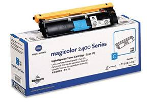 Minolta 1710587-007 Cyan [OEM] Genuine Toner for QMS MagiColor 2400