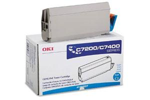 Okidata 41304207 [OEM] Genuine Cyan Toner Cartridge for Okidata C7200N C7400N Color
