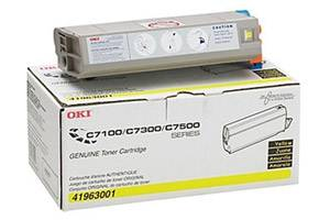 Okidata 41963001 [OEM] Genuine Yellow Toner Cartridge for C7300 C7350n C7500n C7550n