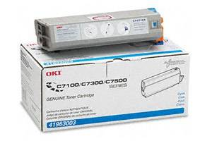 Okidata 41963003 [OEM] Genuine Cyan Toner Cartridge for C7300 C7350n C7500n C7550n