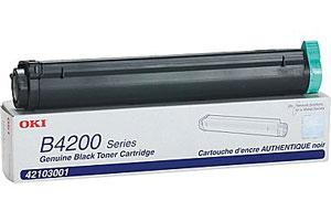 Okidata 42103001 [OEM] Genuine Toner Cartridge for B4100 B4200 B4250 B4300 B4350