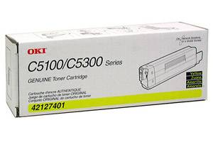 Okidata 42127401 [OEM] Genuine Yellow Toner Cartridge for C5100N C5200N C5300N C5400