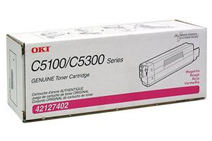 Okidata 42127402 [OEM] Genuine Magenta Toner Cartridge for C5100N C5200N C5300N C5400