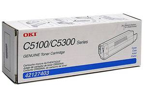 Okidata 42127403 [OEM] Genuine Cyan Toner Cartridge for C5100N C5200N C5300N C5400
