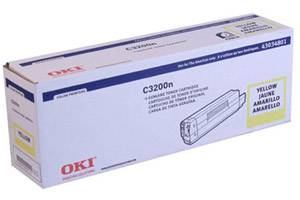 Okidata 43034801 [OEM] Genuine Yellow Toner Cartridge for C3200 C3200N Color Printer
