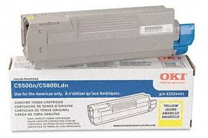 Okidata 43324401 Yellow [OEM] Genuine Toner Cartridge for C5500 C5800 Color Printers