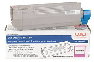 Okidata 43324402 Magenta [OEM] Genuine Toner Cartridge for C5500 C5800 Color Printers
