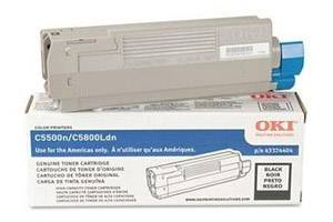Okidata 43324404 Black [OEM] Genuine Toner Cartridge for C5500 C5800 Color Printers
