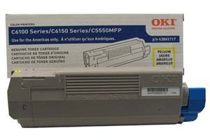 Okidata 43865717 Yellow [OEM] Genuine Toner Cartridge for C6150 C6150dn MC560n