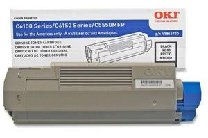 Okidata 43865720 Black [OEM] Genuine Toner Cartridge for C6150 C6150dn MC560n