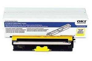 Okidata 44250709 [OEM] Genuine Yellow  Type D1 Toner Cartridge for C110 C130 MC160