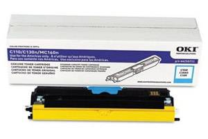 Okidata 44250711 [OEM] Genuine Cyan Type D1 Toner Cartridge for C110 C130 MC160