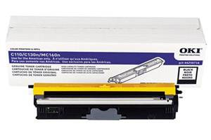 Okidata 44250716 [OEM] Genuine Black High Yield Type D1 Toner Cartridge for C110 C130