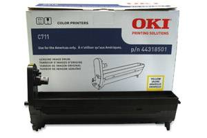 Okidata 44318501 [OEM] Genuine Yellow Drum Unit for Okidata C711dn Color Printer