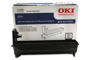 Okidata 44318504 [OEM] Genuine Black Drum Unit for Okidata C711dn Color Printer