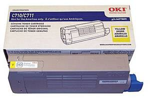 Okidata 44318601 [OEM] Genuine Yellow Toner Cartridge for Okidata C711dn Color Printer