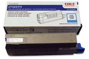 Okidata 44318603 [OEM] Genuine Cyan Toner Cartridge for Okidata C711dn Color Printer