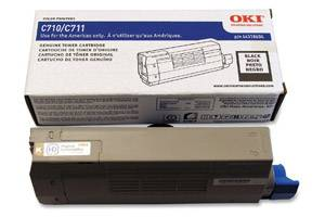 Okidata 44318604 [OEM] Genuine Black Toner Cartridge for Okidata C711dn Color Printer