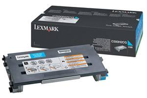 Lexmark C500H2CG [OEM] Genuine High Yield Cyan Toner Cartridge for C500N X500N X502N