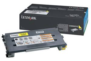 Lexmark C500H2YG [OEM] Genuine High Yield Yellow Toner Cartridge for C500N X500N X502N