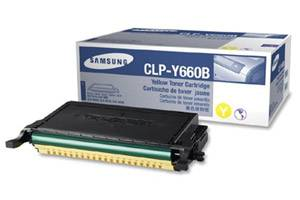 Samsung CLP-Y660B [OEM] Genuine High Yield Yellow Toner Cartridge